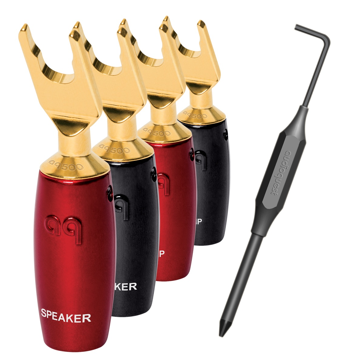 AudioQuest 507 Series Multi-Spade Gold 4er Set Lautsprecherstecker