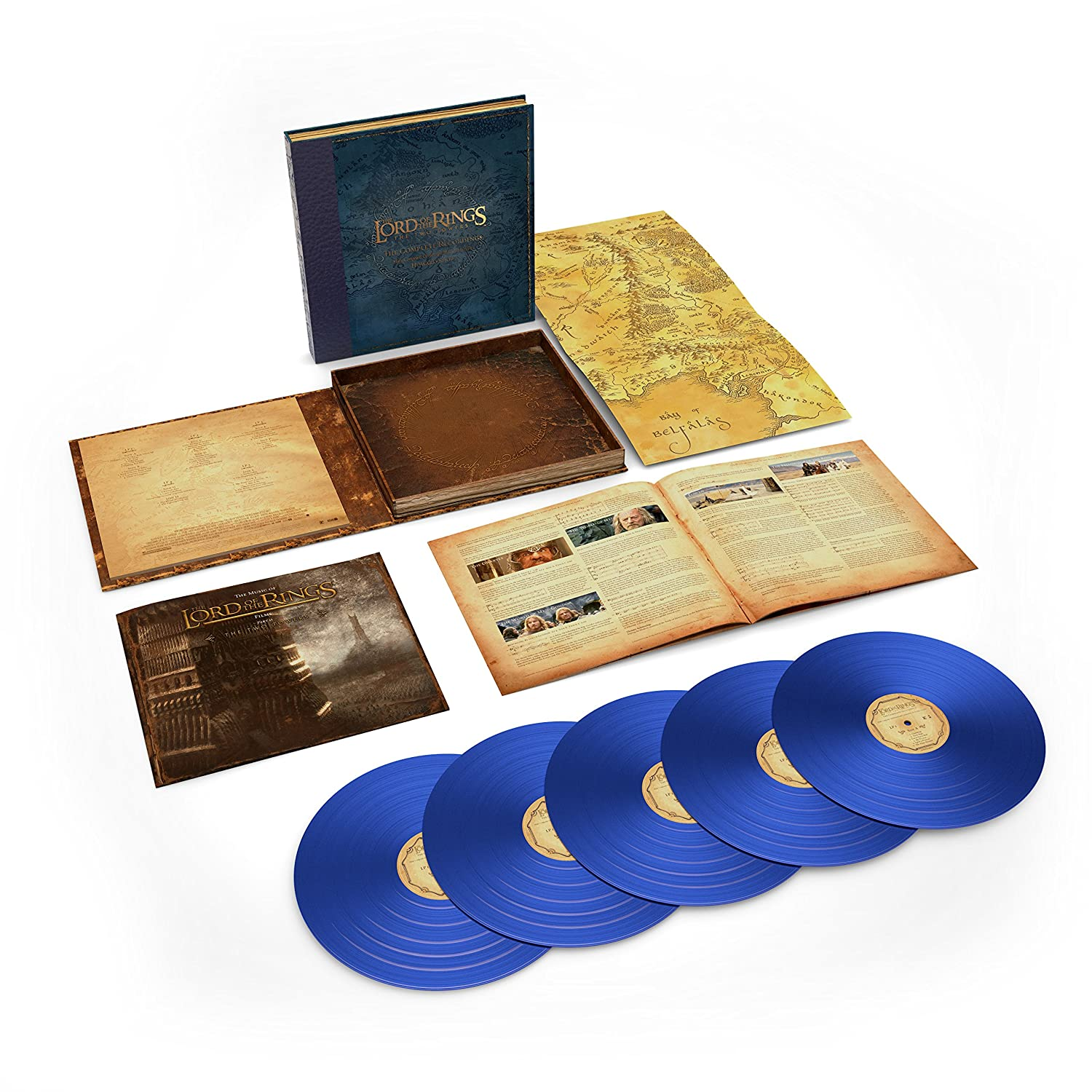 Howard Shore - The Lord Of The Rings: The Two Towers 5LP blue vinyl box